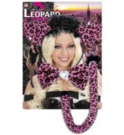 kit de léopard déguisement, accessoire déguisement de léopard, accessoire léopard déguisement, oreilles de léopard déguisement, queue de léopard déguisement Kit de Léopard, Rose
