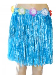 jupe hawaïenne, accessoire hawaïen, déguisement hawaïen, accessoire déguisement hawaï, jupe hawaï, jupe raphia hawaï, Jupe Hawaïenne, Raphia Bleu