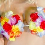 soutien gorge hawaï, soutien gorge à fleurs, accessoire hawaï déguisement, accessoire déguisement hawaï, soutien gorge à fleurs Soutien Gorge Hawaï à Fleurs