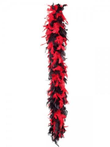 boa, boa de déguisement, boa années 30, boas charleston, boa années 20, boa années folles, boas noirs et rouges, boa rouge et noir, boa en plumes noires et rouges Boa en Plumes Noires et Rouges