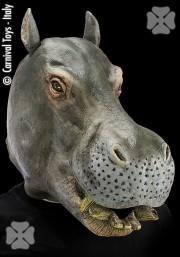 masque d'hippopotame, masque animal latex, masque de déguisement, masque animaux, accessoire déguisement animaux, masque d'animal déguisement, masques d'animaux déguisement, se déguiser en animal Masque d'Hippopotame, Latex