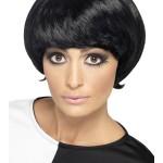 perruque pour femme, perruque brune, perruque noire, acheter perruque femme à paris, perruque de déguisement, perruque pas cher, perruque années 60 Perruque Années 60, Psychedelic, Noire