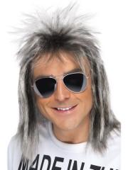 perruque pour homme, perruque pas chère, perruque de déguisement, perruque homme, perruque blonde, perruque mulet, perruque années 70, perruque disco Perruque Années 80, Mulet Blond Cendré