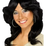 perruque femme, perruque pas cher paris, perruque noire, perruque disco, perruque années 80, perruque farraw facet, perruque abba Perruque Flick, Noire