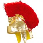 casque romain, caques de romains, accessoire déguisement romain, casque plumes, casques gladiateurs romains Casque Romain, Or