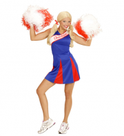 déguisement pompom girl adulte, déguisement cheerleader adulte, costume cheerleader femme, costume pompom girl adulte Déguisement Pompom Girl, Cheerleader, Bleu et Rouge