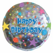 ballon hélium, ballon anniversaire, ballon happy birthday Ballon Aluminium, Happy Birthday Prismatic