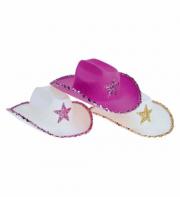 chapeaux de cowboys, chapeaux de cow boy, accessoires déguisement cowboys, chapeaux paillettes, chapeaux cowboys femmes Chapeau de Cowboy, Etoile Paillettes