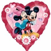 ballon hélium, ballon coeur mickey et minnie, disney Ballon Aluminium, Coeur Mickey et Minnie, Disney