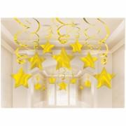 suspension étoiles or Suspension Shooting Star, Or