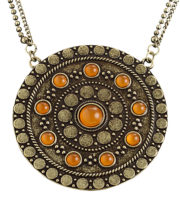 collier antique, collier celte, collier game of throne, accessoires déguisement moyen age, accessoires déguisement médiéval, collier déguisement pas cher Collier Antique, Plaque de Bronze et Pierres