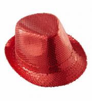 chapeaux borsalino, chapeaux paillettes, accessoires disco années 80, chapeaux paris, chapeaux déguisements, accessoires déguisements Chapeau Borsalino Paillettes Sequins, Rouge