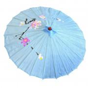 ombrelle chinoise, ombrelle japonaise, ombrelle déguisement, accessoire déguisement asiatique, accessoire geisha déguisement, accessoire déguisement chinoise Ombrelle Japonaise en Tissu, Bleue