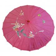 ombrelle chinoise, ombrelle japonaise, ombrelle déguisement, accessoire déguisement asiatique, accessoire geisha déguisement, accessoire déguisement chinoise Ombrelle Japonaise en Tissu, Rose