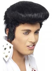perruque pour homme, perruque pas chère, perruque de déguisement, perruque homme, perruque noire, perruque banane, perruque elvis, perruque king, perruque années 60 Perruque Elvis Banane, Noire