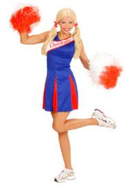 déguisement pompom girl adulte, déguisement cheerleader adulte, costume cheerleader femme, costume pompom girl adulte Déguisement Pompom Girl, Cheerleader, Bleu et Rouge
