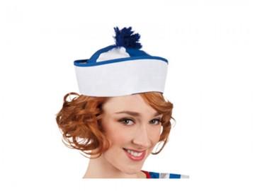 bob marin, chapeau de marin, bob marin à pompons, accessoire déguisement de marin, chapeaux de la marine Bob Marin, Marine