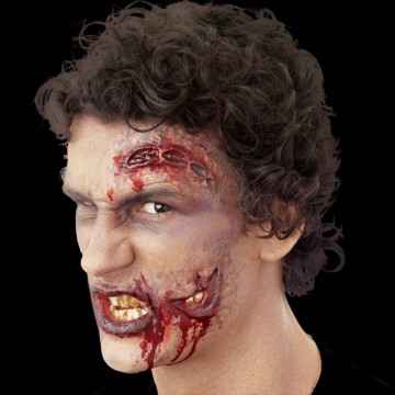 maquillage halloween, fausses blessures halloween, blessures réalistes halloween, maquillage halloween réaliste, blessures halloween réalistes, fausses blessures halloween, effets spéciaux maquillage halloween, blessures cinema secret, maquillage blessure halloween, cicatrices plaies ouvertes halloween Blessure Cinema Secrets®, FX, Plaies Ouvertes