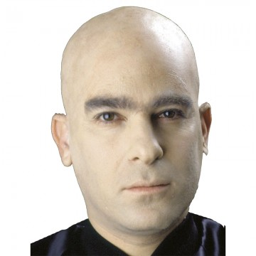 faux crane chauve en latex, faux crâne halloween, faux crâne qualité paris, faux crâne réaliste, faux crâne déguisement, accessoire faux crâne déguisement, accessoire chauve déguisement Faux Crâne en Latex, Beige, Qualité Pro