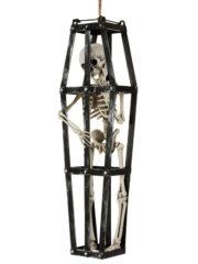 décoration halloween, squelette en cage, squelette halloween, décorations halloween Squelette en Cage