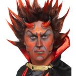 perruque pour homme, perruque pas chère, perruque de déguisement, perruque homme, perruque de diable, perruque rouge Perruque de Diable Lucifer, Rouge et Brun
