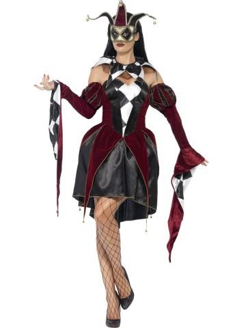 déguisement arlequin femme, costume arlequin, déguisement arlequin halloween, déguisement vénitien arlequin femme, costume arlequine halloween, costume arlequine venise Déguisement Arlequin Gothique