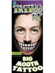 tatouage temporaire, faux tatouage, faux tatouage déguisement, faux tatouage halloween, maquillage halloween, faux tatouage blessures, faux tatouages effets spéciaux déguisement, tatouage bouche Tatouage Temporaire, Bouche Big