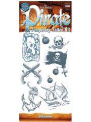 tatouage temporaire, faux tatouage, tatouage pirate Tatouage Temporaire, Kit pour Pirate