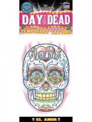 tatouage temporaire, faux tatouage, tatouage tête de mort Tatouage Temporaire, Tête de Mort, Jour des Morts