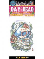 tatouage temporaire, faux tatouage, tatouage tête de mort Tatouage Temporaire, Tête de Mort Jour des Morts