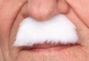 fausses moustaches, postiche, moustache postiche, fausses moustaches réalistes, fausse moustache de déguisement, moustache blanche Moustache de Papy, Luxe, Blanche
