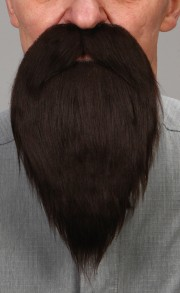 fausse barbe, fausses moustaches, postiche, barbe postiche, fausse barbe réaliste, fausse barbe de déguisement, barbe brune Barbe, Luxe, Brune