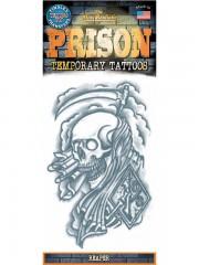 tatouage temporaire, faux tatouage, tatouage tête de mort Tatouage Temporaire, Mort Rieuse