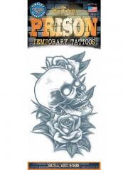 tatouage temporaire, faux tatouage, tatouage tête de mort Tatouage Temporaire, Tête de Mort et Roses