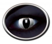 lentilles UV oeil de chat, lentilles fluos blanches, lentilles halloween, lentilles fantaisie, lentilles déguisement, lentilles déguisement halloween, lentilles de couleur, lentilles fete, lentilles de contact déguisement, lentilles chats blanches fluos Lentilles Fluos, Oeil de Chat, Blanches