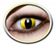 lentilles halloween, lentilles fantaisie, lentilles déguisement, lentilles déguisement halloween, lentilles de couleur, lentilles fete, lentilles de contact déguisement, lentilles jaunes, lentilles oeil de chat, lentilles halloween, lentilles serpent Lentilles Oeil de Chat, Jaunes, Yellow Cat