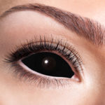lentilles sclera, lentilles oeil complet, lentilles noires, lentilles halloween, lentilles fantaisie, lentilles déguisement, lentilles déguisement halloween, lentilles de couleur, lentilles fete, lentilles de contact déguisement, lentilles de sorcière Lentilles Sclera 22 mm, Noires, Noir Total
