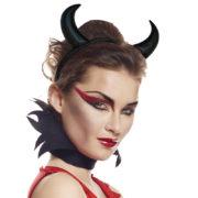 cornes de diable, accessoire halloween déguisement, accessoire déguisement halloween, accessoire diable déguisement, accessoire déguisement diable, cornes de diables halloween, cornes de diable pour halloween Cornes de Diable, Noires
