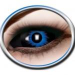 lentilles sclera, lentilles yeux complets, lentilles halloween, lentilles fantaisie, lentilles déguisement, lentilles déguisement halloween, lentilles de couleur, lentilles fete, lentilles de contact déguisement, lentilles 22 mm halloween Lentilles Sclera 22 mm, Bleues et Noires, Blue Demon