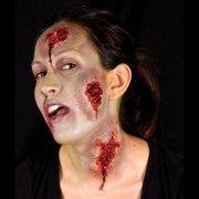 maquillage halloween, fausses blessures halloween, blessures réalistes halloween, maquillage halloween réaliste, blessures halloween réalistes, fausses blessures halloween, effets spéciaux maquillage halloween, blessures cinema secret, maquillage blessure halloween, fx blessure, fausse blessure, plaies suintantes Blessure Cinema Secrets®, FX, Plaies Suintantes