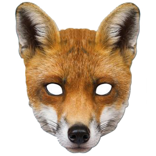 Masque de renard en carton aux feux de la f te paris for Fantastic mr fox mask template