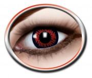 lentilles halloween, lentilles fantaisie, lentilles déguisement, lentilles déguisement halloween, lentilles de couleur, lentilles fete, lentilles de contact déguisement, lentilles rouges et noires, lentilles red wolf halloween Lentilles Rouges et Noires, Red Wolf