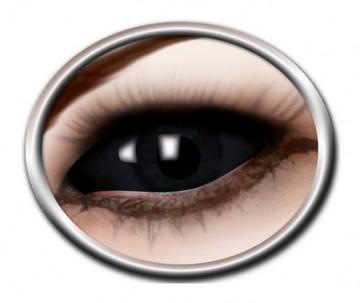 lentilles sclera, lentilles yeux complets, lentilles halloween, lentilles fantaisie, lentilles déguisement, lentilles déguisement halloween, lentilles de couleur, lentilles fete, lentilles de contact déguisement, lentilles noires 22 mm halloween Lentilles Sclera 22 mm, Noires, Noir Total