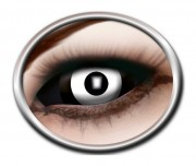 lentilles sclera, lentilles yeux complets, lentilles halloween, lentilles fantaisie, lentilles déguisement, lentilles déguisement halloween, lentilles de couleur, lentilles fete, lentilles de contact déguisement, lentilles blanches, lentilles zombie 22 mm halloween Lentilles Sclera 22 mm, Noires et Blanches
