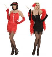 robe charleston déguisement, déguisement charleston, déguisement années 30, robe années 20, costume cabaret, déguisement cabaret femme Déguisement Charleston, Flapper Rouge ou Noir
