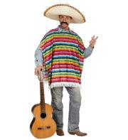 poncho et sombrero, poncho mexicain Déguisement Mexicain, Poncho + Sombrero