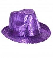 chapeaux borsalino paillettes, chapeaux borsalino paris, chapeaux années 30 paris, chapeaux de fête, accessoires chapeaux Chapeau Borsalino Paillettes Sequins, Violet