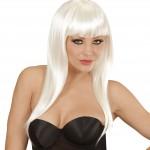 perruque pas chère à paris, perruques femmes, perruques de déguisement, perruque blanche, perruque longue blanche Perruque Vogue, Blanche