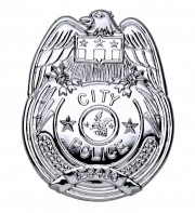 insigne de police, badge de police, insigne FBI, fausse plaque de police, accessoire déguisement de policier, faux badge de police américaine, insigne de déguisement Badge de Police City