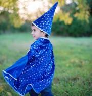 cape de magicien étoiles, déguisement magicien enfant, déguisement magicien garçon, costume magicien garçon Cape de Magicien Etoiles avec Chapeau, Garçon